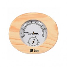 """Термометр с гигрометром """"Банная станция овальная"""""""