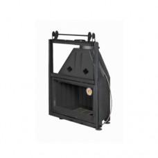 Топка АЛЬФА 800К с контргрузом с черным шамотом