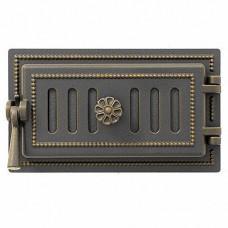 Везувий Дверка поддувальная 236 (бронза) 140x275 мм